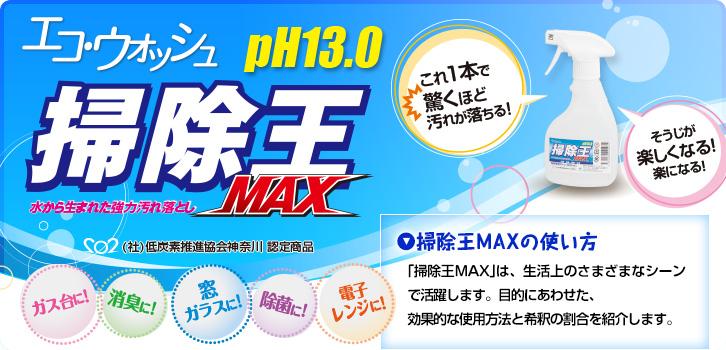 水洗剤掃除王MAX 使い方